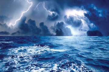 Strom at sea